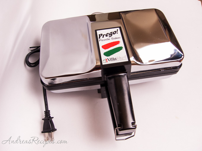 Villaware Prego pizzelle maker - Andrea Meyers