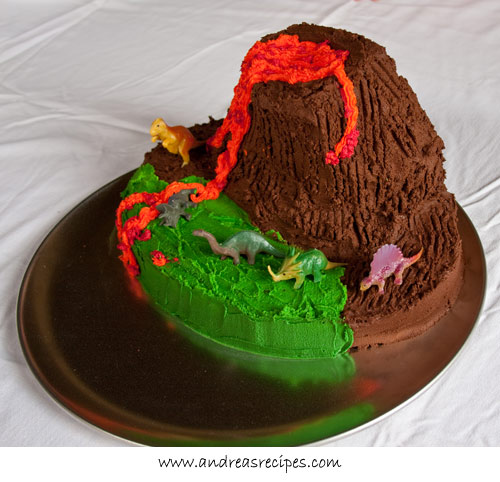 Andrea's Recipes - Volcano Birthday Cake