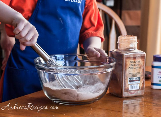 Andrea Meyers - waffles, whisk the dry ingredients
