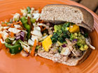 Andrea Meyers - Grilled Chicken Sliders with Mango Avocado Salsa and Mexican Slaw (The Kids Cook Monday)