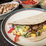 Grilled Fish Tacos with Mango Avocado Salsa - Andrea Meyers