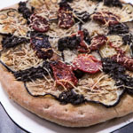 Eggplant and Sun-Dried Tomato Pizza - Andrea Meyers
