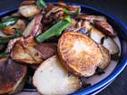Andrea's Recipes - Papas Fritas con Rajas (Fried Potatoes with Poblano Pepper Strips)