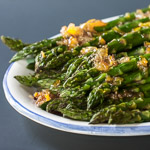 Andrea Meyers - Roasted Asparagus with Orange Ginger Glaze