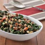 Mediterranean Spinach Bean Salad - Andrea Meyers