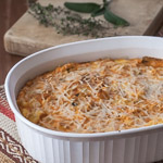Butternut Squash and Parmesan Bread Pudding (The Kids Cook Monday) - Andrea Meyers