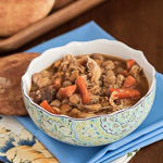 Andrea Meyers - Slow Cooker Chicken Tagine with Chickpeas and Root Vegetables