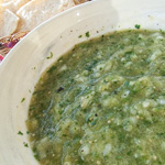 Roasted Green Tomatillo Salsa - Andrea Meyers