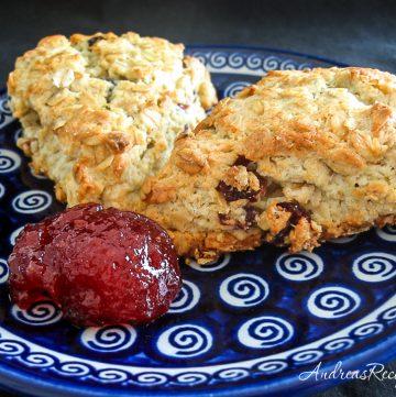 Oatmeal Cream Scones - Andrea Meyers