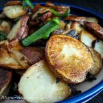 Papas Fritas con Rajas (Fried Potatoes with Poblano Pepper Strips) - Andrea Meyers