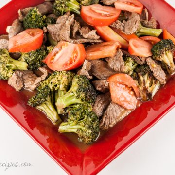 Chinese Beef and Broccoli with Tomato - Andrea Meyers