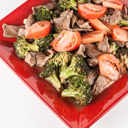 Chinese Beef and Broccoli with Tomato Recipe - Andrea Meyers