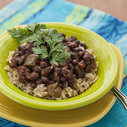 Slow Cooker Cuban-Style Black Beans Recipe with Rice - Andrea Meyers