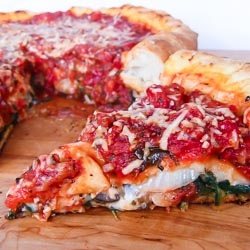 Chicago-Style Stuffed Pizza Recipe - Andrea Meyers