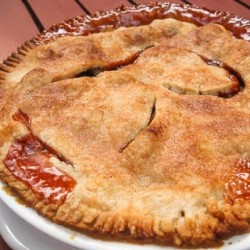 Rhubarb Pie Recipe - Andrea Meyers