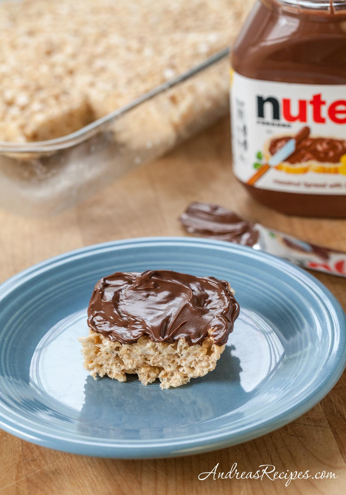 Rice Crispy Treats with Nutella - Andrea Meyers
