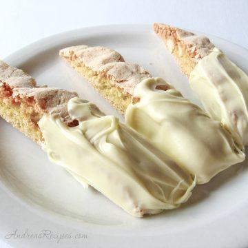 White Chocolate Macadamia Nut Biscotti with Orange - Andrea Meyers