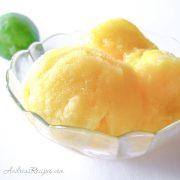 Mango-Lime Ice (Nieve de Mango con Limon) - Andrea Meyers