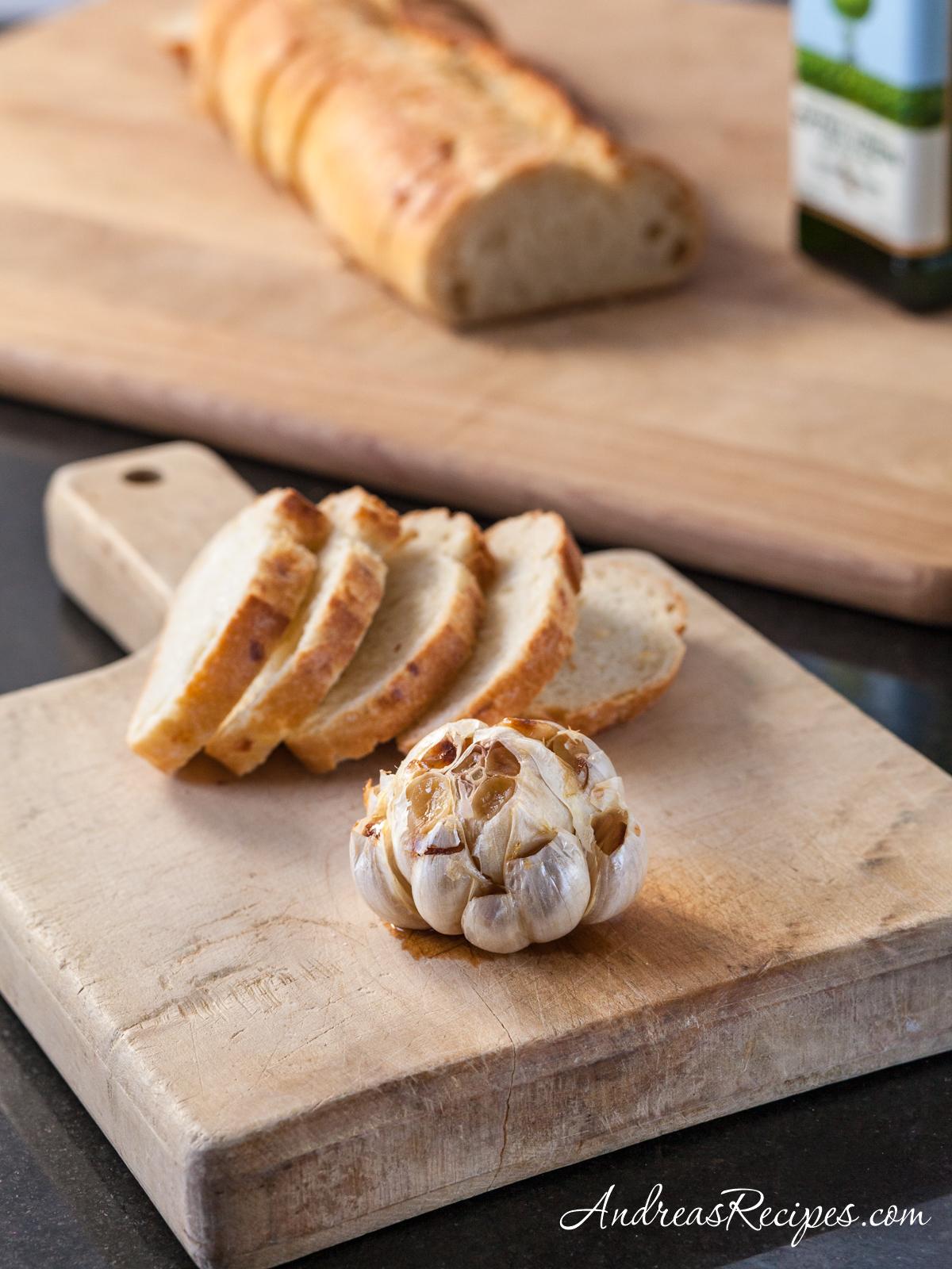 How to Roast a Head of Garlic - Andrea Meyers