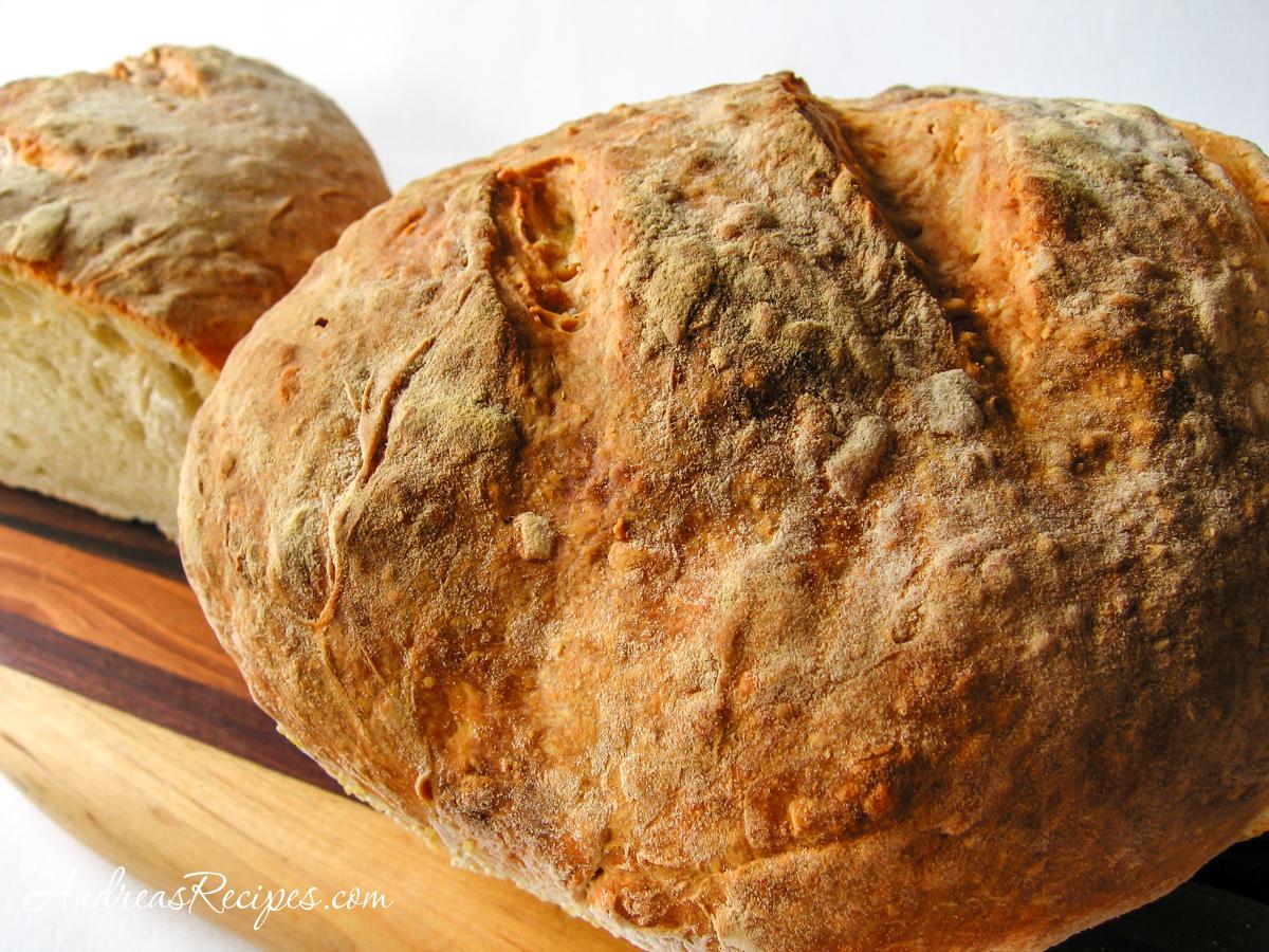 Asiago No-Knead Bread - Andrea Meyers