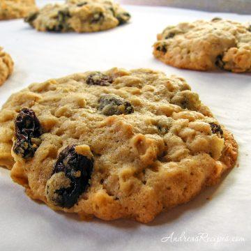 Chewy Oatmeal Raisin Cookies - Andrea Meyers