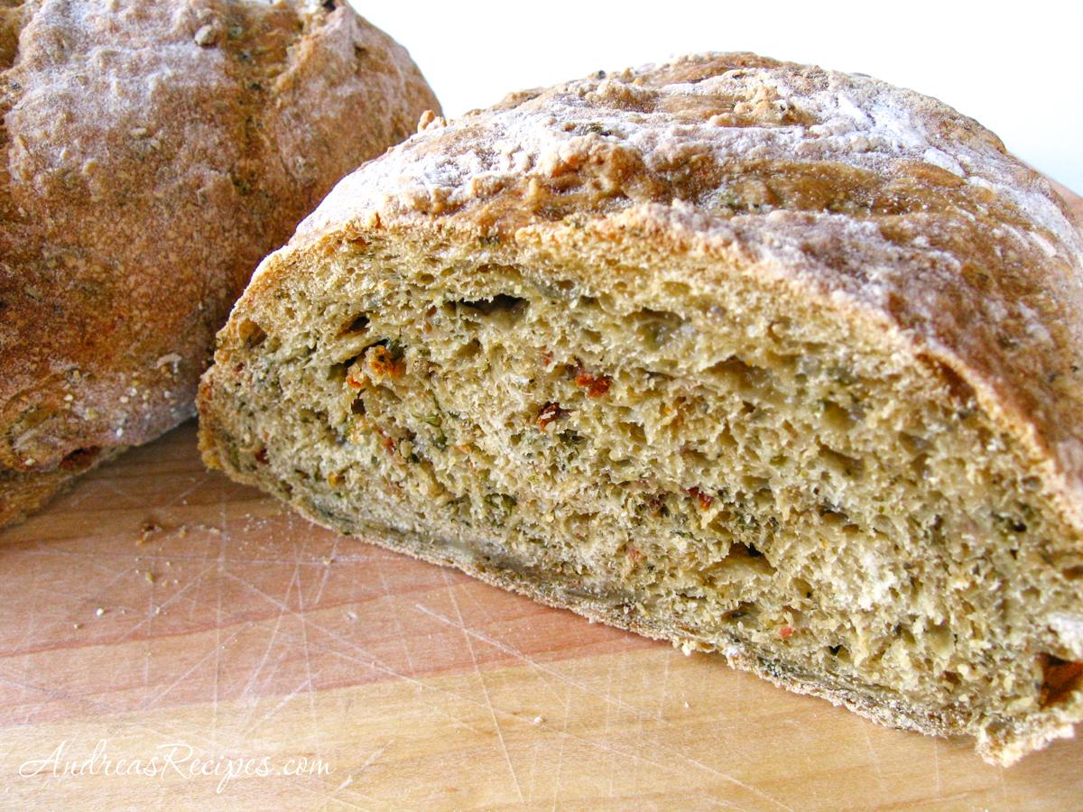 Pesto No-Knead Bread - Andrea Meyers