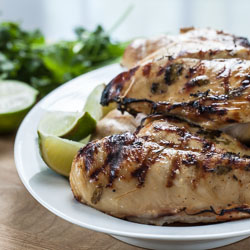 Tequila Lime Chicken Fajitas - Andrea Meyers