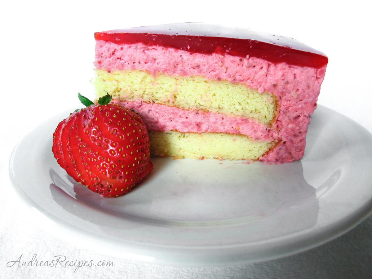 Strawberry Mirror Cake - Andrea Meyers
