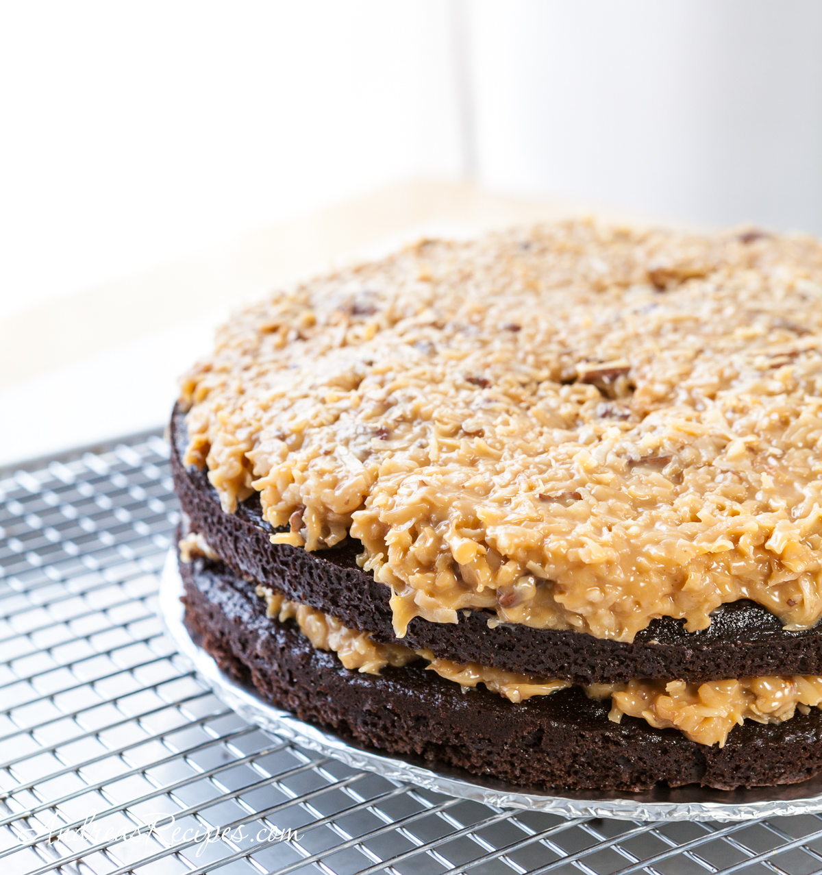 Dulce de leche layer, Inside-Out German Chocolate Cake - Andrea Meyers