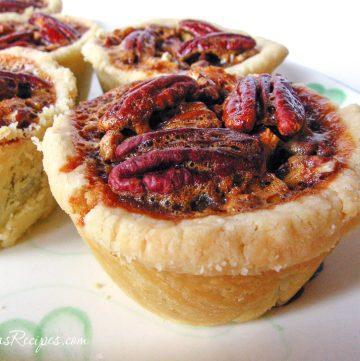 Mini Chocolate Pecan Pies - Andrea Meyers