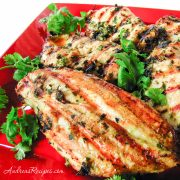 Thai Grilled Chicken with Cilantro Dipping Sauce - Andrea Meyers