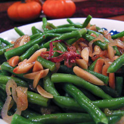 Brown Butter Green Beans Recipe with Almonds - Andrea Meyers