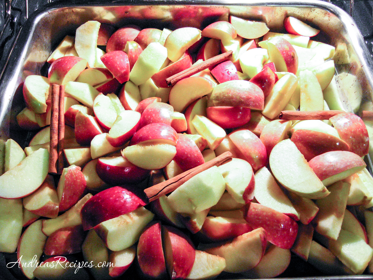 Apples roasting in the oven - Andrea Meyers