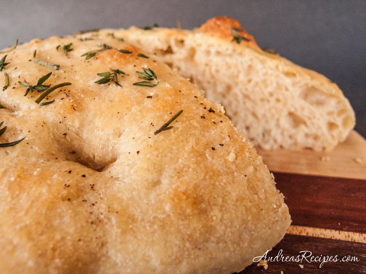Tender Potato Bread Focaccia - Andrea Meyers
