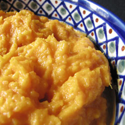 Roasted Butternut Squash Puree with Ginger