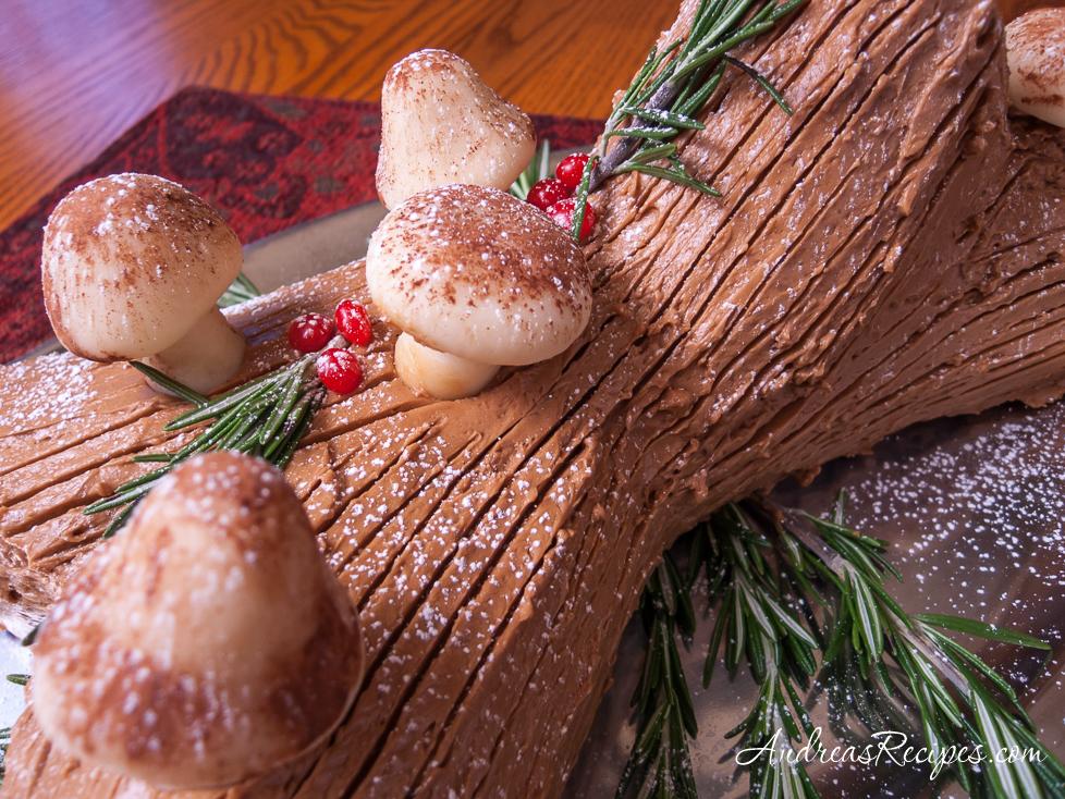 Buche de Noel (Yule Log Cake) - Andrea Meyers