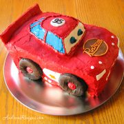 Lightning McQueen Birthday Cake - Andrea Meyers