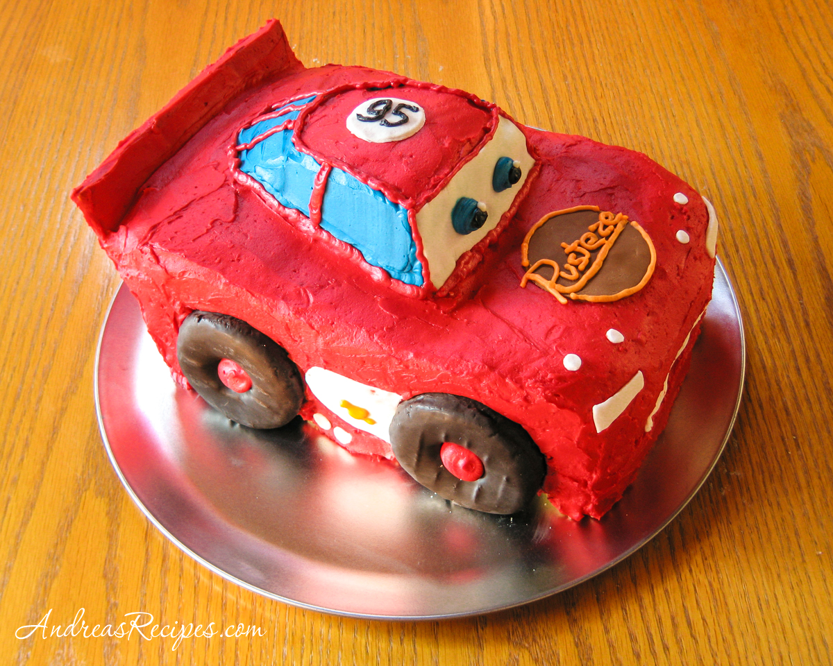 Lightning McQueen Birthday Cake - Andrea Meyers
