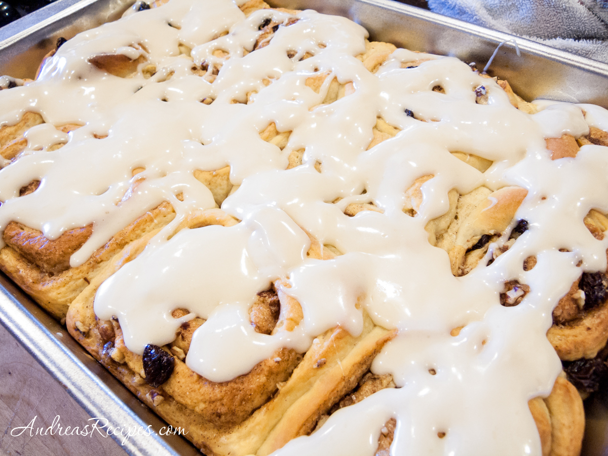 Cinnamon Rolls with Cream Cheese Glaze - Andrea Meyers