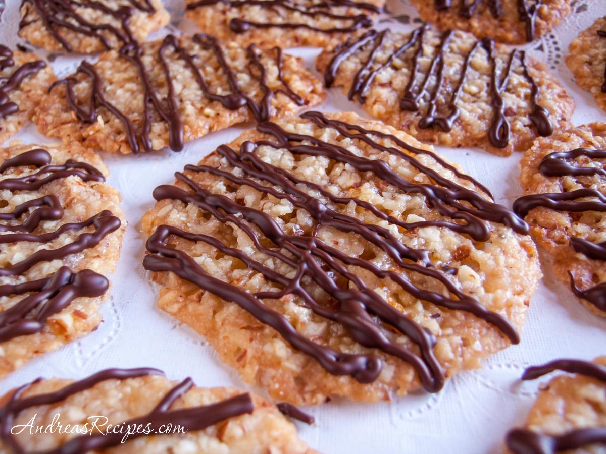 Florentines (Italian Almond Cookies) - Andrea Meyers