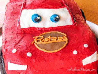 Lightning McQueen cake face - Andrea Meyers