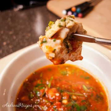 Chicken Pesto Fondue - Andrea Meyers