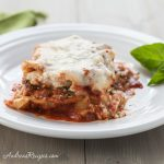 Spinach and Basil Lasagna - Andrea Meyers