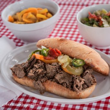 Italian Beef Sandwiches - Andrea Meyers