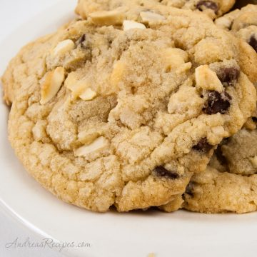 Colossal Double Chocolate White Chip Cookies - Andrea Meyers