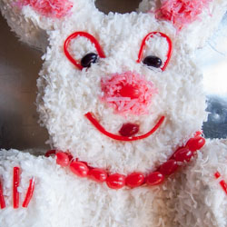 Easter Bunny Cake and a Lesson in Frugality