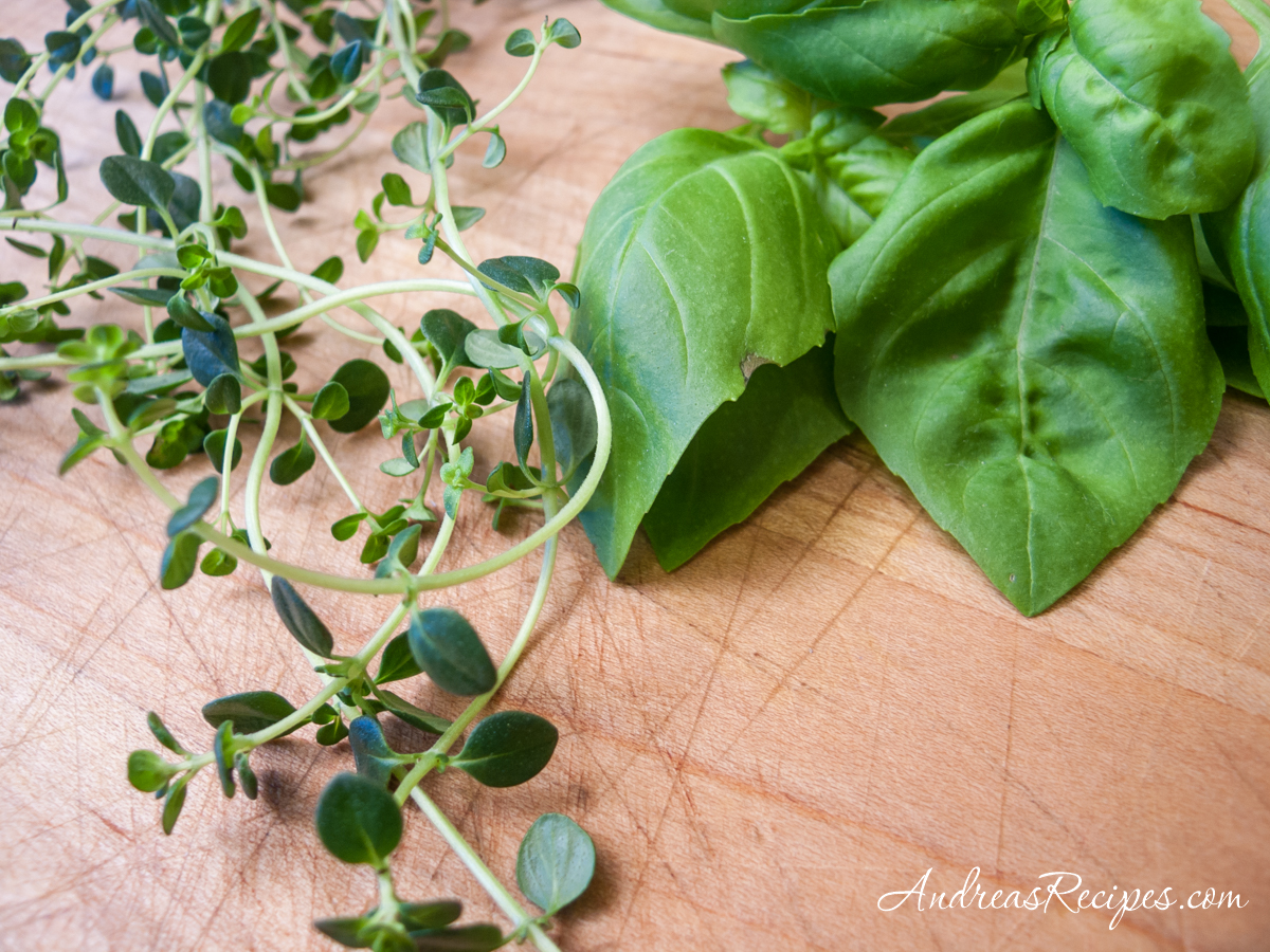 Basil and thyme from our garden - Andrea Meyers