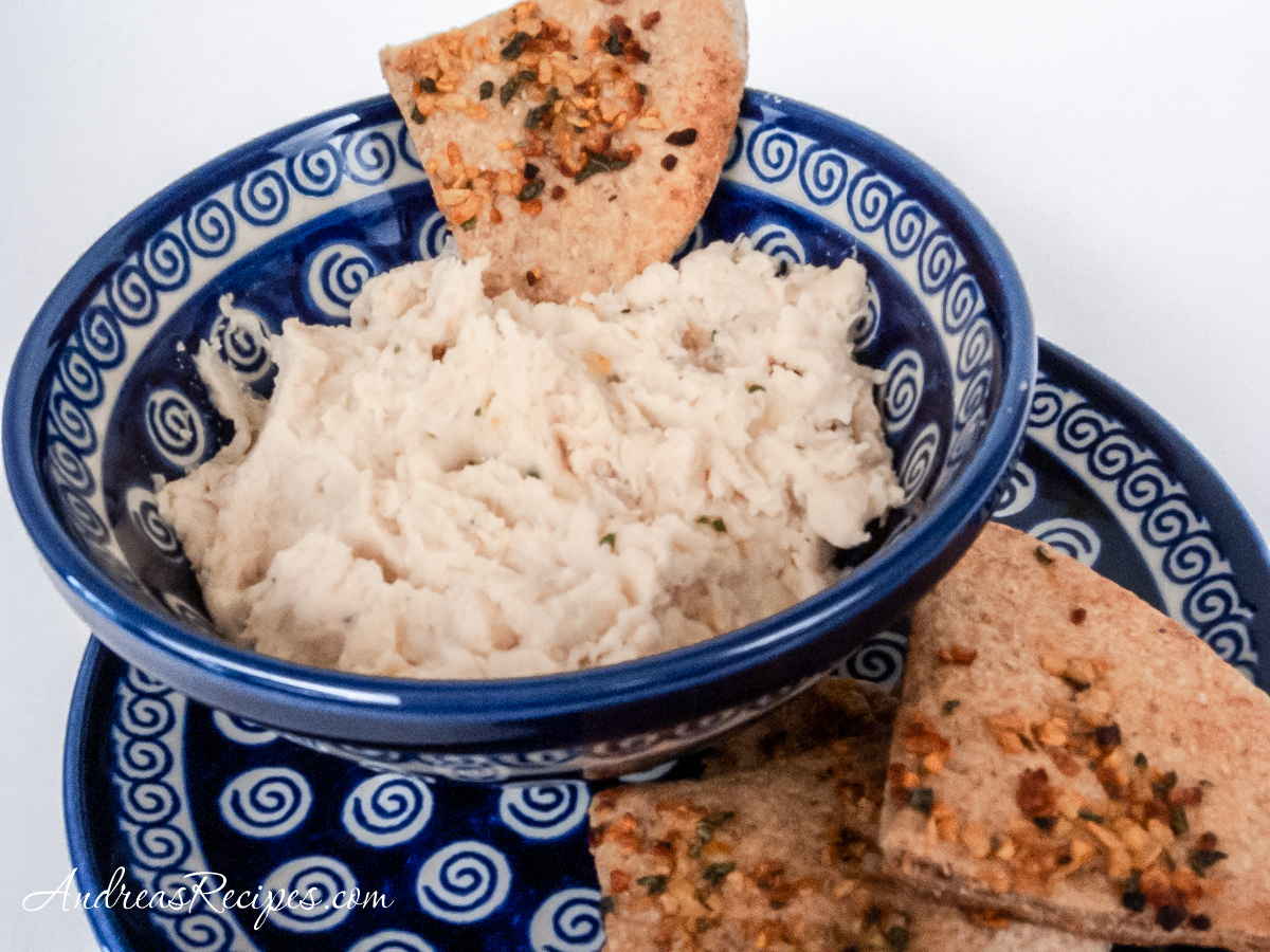 Cannellini Bean Dip with Herbed Pita - Andrea Meyers