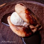 Grilled Dessert Pizza with Ice Cream and Chocolate Syrup - Andrea Meyers