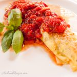 Ricotta and Spinach Stuffed Herb Crepes - Andrea Meyers